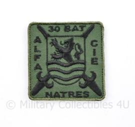 KL Nederlandse leger ALFA CIE 30 BAT NATRES 30 Natresbataljon borstembleem - met klittenband - 5 x 5 cm - origineel