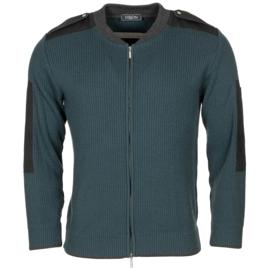 Nederlandse Douane cardigan sweater full zip met schouderstukken - lange mouw - maat XXS t/m 3XL - origineel