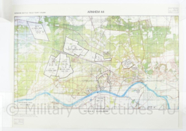 Stafkaart Arnhem Battlefield Tour operatie Market Garden - 1 : 25.000 - met situatie uit de oorlog - 73,5 x 53 cm- replica