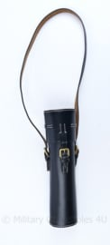 WO2 Duitse scope case met schouderriem - Zwart leder - replica