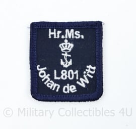 Koninklijke Marine HR MS Johan de Witt L801 - 7 x 6 cm - met klittenband - ongebruikt - origineel