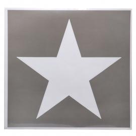 Sticker Sjabloon US ster - 48 cm. - Groot