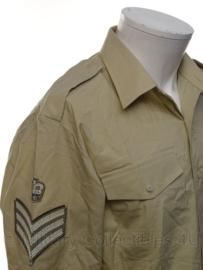 Brits Leger Overhemd khaki MET rangstreep naar keuze  - maat 39 - origineel