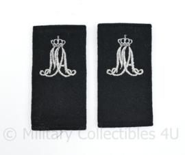 MA Militaire Academie epauletten paar Luchtmacht - 9,5 x 5 cm - origineel