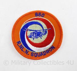 Klu Luchtmacht en Marine embleem 860 Royal Netherlands Navy Squadron  - diameter 8 cm - origineel