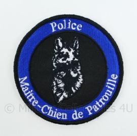 Belgische Politie Police Maitre-Chien de Patrouille embleem - met klittenband - diameter 9 cm