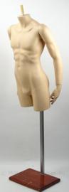 Luxe buste Paspop beweegbare armen met zware standaard - 1,71 m. heren model