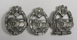 Panzerkampf abzeichen 25, 50 of 75 uitvoering