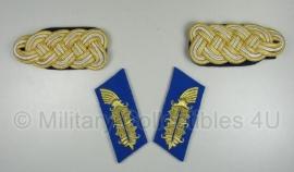 Generaals kraag- en schouderstukken - donkerblauw - administratief personeel