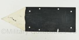 Defensie bord met pijl  -  60 x 20 cm - origineel