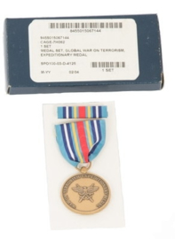 US Army medal set Global War on Terrorism Expeditionary medal  - origineel