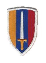 US Army USAVN USARV Vietnam patch - Vietnam oorlog - 7,5 x 4,8 cm - origineel