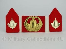 KL baret speld en kraagspiegel set - Infanterie - origineel
