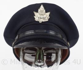 Canadese Politie pet - met insigne Maple Leaf - maat 57 - origineel
