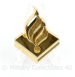 Politie kraag insigne goudkleurig - 4 x  3,5 cm - origineel