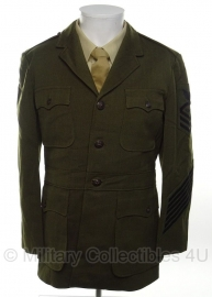 USMC US Marine Corps uniform 24 jaar in dienst - size 37 - rang Chief patty officer - zeldzame Navy uitvoering!