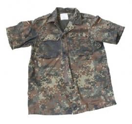 Bundeswehr flecktarn jas  met KORTE MOUWEN - origineel