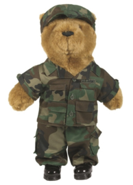Teddybeer groot 54cm - Woodland uniform