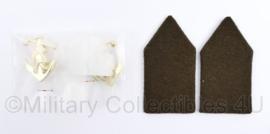 Defensie DT kraagspiegel PAAR Pontonnier - nieuw in de verpakking - 8 x 4 cm -  origineel