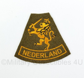 WO2 Nederlandse leger Prinses Irene Brigade Nederland embleem - 7,5 x 6,5 cm