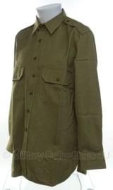 US officers shirt replica - mustard  kleur - meerdere maten