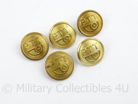 PTT Knoop groot - goudkleurig - doorsnede 2,3 cm - prijs per stuk - origineel