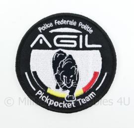Belgische Politie Police Federale Politie AGIL Pickpocket Team embleem - met klittenband - diameter 9 cm