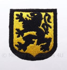 "WO2 Duitse Waffen SS ""Vlaanderen"" embleem - afmeting 5 x 6,5 cm - replica WO2"