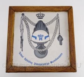 School Opleiding Dienstplichtige Marechaussees wandbord - origineel