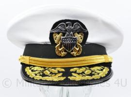 US Navy USN Admiral visor cap replica Summer cap WHITE - maat 57 tm. 60