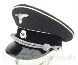 Algemeine SS schirmmutze officier - wol - 56 tm. 61 cm  - witte bies