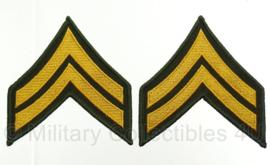 US Army rangen set Vietnam oorlog - Corporal - 8,7 x 8,3 cm