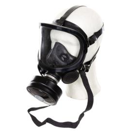 Zwart modern Fernez by Willson brandweer en Speciale eenheden DSI gasmasker met breed zichtveld MET FP-5 filter- zeldzaam model! - origineel