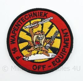 KLu Koninklijke Luchtmacht embleem F16 Wapentechniek Off-Equipment - met klittenband  - 9 cm. diameter