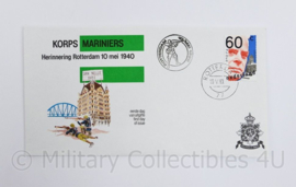 Korps Mariniers eerste dag envelop herinnering Rotterdam 10 mei 1940 - gedateerd 1980 - origineel