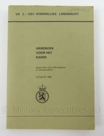 KL Landmacht Handboek voor het kader uit 1985 - VS 2-1351 - afmeting 20 x 14 cm - origineel