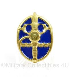 Nederlands leger GVA Duikinsigne Instructeur - blauw goudkleurig -  origineel