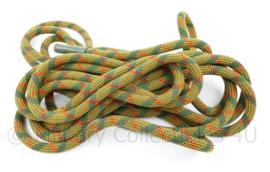 Korps Mariniers klimtouw  geel/groen/ rood - 7 meter lang - origineel