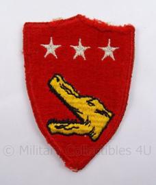 USMC Marines WO2 embleem - USMC 5th amphibious corps patch - afmeting 6 x 9 cm - origineel