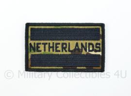 Netherlands embleem MTP Multicam met zwart - met klittenband - 8 x 5 cm