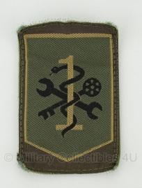 Koninklijke Landmacht embleem 1 Logistieke Brigade - met klittenband - origineel