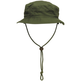 Boonie hat / Bush hat Ripstop - Special Forces model Short Brim - GROEN