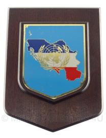 VN UN missie wandbord - 19 x 15 cm - origineel