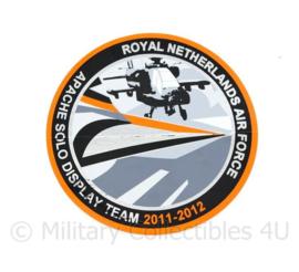 KLU Royal Netherlands Air Force Apache Solo Display Team 2011-2012 sticker - diameter 10 cm - origineel