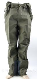 KMarns Korps Mariniers GTX Goretex waterproef regenbroek met bretels groen - maat Large - NIEUW - origineel