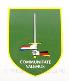 KL Nederlandse leger sticker 1 (Ge/NL) Corps Duits-Nederlandse Korps - Communitate Valemus - 7 x 9 cm - origineel