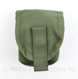 Nederlandse leger en Korps Mariniers GROENE profile Equipment MOLLE handgranaattas - nieuw - 17 x 12 x 8 cm - licht gebruikt - origineel