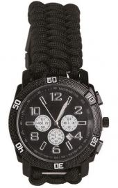Horloge met paracord armband Black