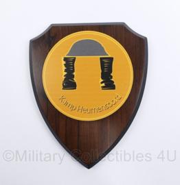 Wandbord Defensie Kamp Heumensoord Nijmeegse Vierdaagse - 18 x 14,5 x 2 cm - origineel
