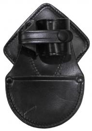 Handboeien tas voor niet-opvouwbare handboeien - zwart leer - origineel politie